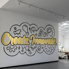create innovate office wall art