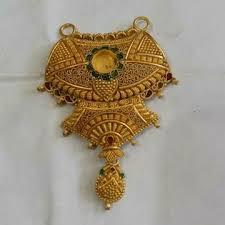 gold mangalsutra pendant jewelxy 53020