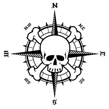 15 4cm 15 5cm Nswe Bardian Pirate Compass Skull Vinyl Motorcycle Car Stickers Decals S6 3500 Wish