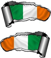 Ripped Open Gash Rip Torn Metal Ireland Irish Country Flag Car Sticker Decal Archives Midweek Com