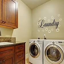 Vinyl Laundry Room Wall Quote Bubble Wall Decal Wall Sticker Wall Graphic Wall Mural Laundry Room Art Decoration B Bubbles White Words Black Amazon Com