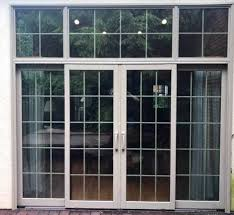 4 panel sliding glass door lets in