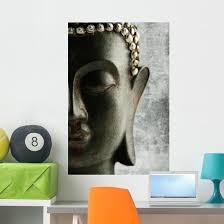 Black Grunge Buddha Wall Decal Wallmonkeys Com
