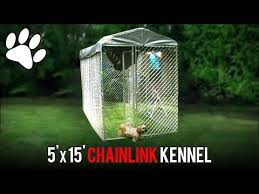 Lucky Dog 5 X 15 Chainlink Boxed Kennel Assembly Youtube