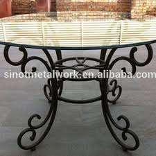 decorative metal table base solid iron