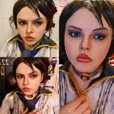 1st elizabeth bioshock makeup test
