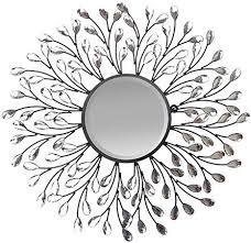 crystal metal vine wall mirror beveled