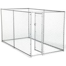 American Kennel Club 6 Ft X 10 Ft X 6 Ft Chain Link Kennel 308595akc The Home Depot Chain Link Dog Kennel American Kennel Club Dog Playpen