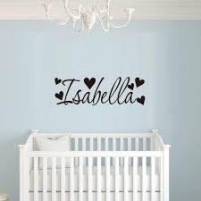 Isabella Name Heart Wall Art Sticker Decor Girls Nursery Bedroom Decal Applied Home Garden Decor Decals Stickers Vinyl Art