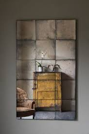 panelled antiqued mirror rough old