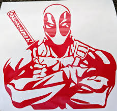 Muscular Deadpool With Arms Crossed Vinyl Decal For Home Or Car Yeti Ftw Custom Vinyl