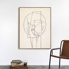 Invin Art Framed Canvas Giclee Print Art Head 1913 By Pablo Picasso Wa