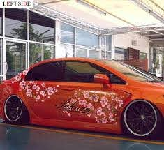 Left Side Car Stickers Customizable Fashion Cherry Blossom Whole Car Accessories Car Styling Stickers Camouflage Protective Film Protective Film Car Accessoriescar Styling Aliexpress