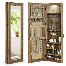 jewelry armoire with mirror walls
