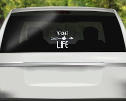 Teacher Life Decal School Car Decal Educator Sticker Instructor Car Sticker Bumper Sticker Viny Vinyl Bumper Stickers Car Stickers Car Decals Vinyl