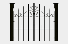 Haunted House Clipart Fence Haunted House Gates Png Cliparts Cartoons Jing Fm