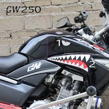Gw250 Shark Teeth Eyes Sticker Set Fpr Front Signals 11 99 Gw250 Inazuma Gw250 Inazuma Aftermarket Parts Accessories Sliders Engineguards Crashbars Belly Pans Skid Plates Rear Side Box