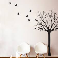 Leafless Tree With Flock Of Birds Wall Decal Shop Dana Decals