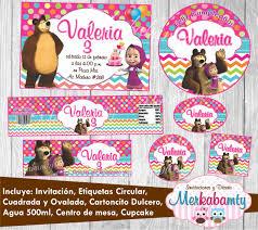 Invitacion Cumpleanos Masha Y El Oso Kit Imprimelo Tu 69 00