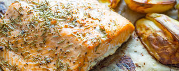 Baked Salmon with Lemon and Garlic ...