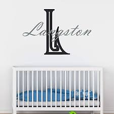 Amazon Com Boy S Custom Name And Initial Wall Decal Choose Your Own Name Initial And Letter Styles Multiple Sizes Boy S Name Vinyl Wall Stickers For Kids Custom Boy S Name Wall Vinyl Decal Sticker