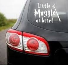 Little Muggle On Board Cute Harry Potter Funny Car Decal Sticker Ebay Funny Car Decals Car Stickers Funny Car Decals