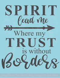 Spirit Lead Me Vinyl Lettering Decals Religious Wall Stickers Quote