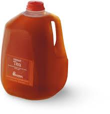 fresh brewed iced tea glass bottle