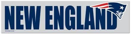 New England Patriots Bumper Sticker