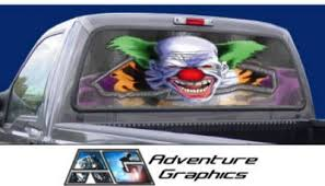 Vehicle Graphics Rear Window Graphics Chuckles The Clown Custom Truck Or Suv Rear Window Graphic By Adventure Graphics