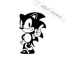2x Sonic The Hedgehog Video Game Vinyl Decal Sticker Different Colors M D Stickers