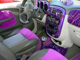wild custom purple pt cruiser interior