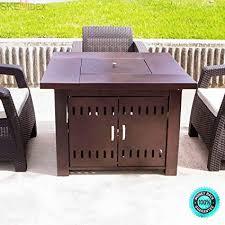 fire pit table patio deck backyard