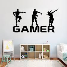 Game Gamer Wall Decal Ps4 Game Diy Vinyl Sticker Controller Video Game Wall Decals For Kids Bedroom Wall Art Mural Y243 Wall Stickers Aliexpress