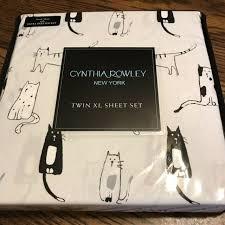 new 3 pc cynthia rowley twin xl sheet