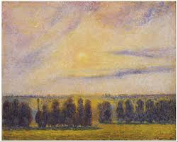 Image result for Pissaro paintings sunsets