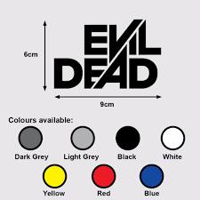 Evil Dead Logo Premium Vinyl Sticker Decal Horror Movie Ash Vs Evil Dead Design Craft Art Prints On Carousell