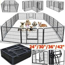 24 30 36 42 Tall Wire Fence Portable Folding Dog Animal Pet Playpen Metal Black Pet Supplies Wish