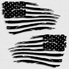 Amazon Com Aftershock Decals American Flag Decal Distressed Grunge Battle Military Usa Matte Black Automotive