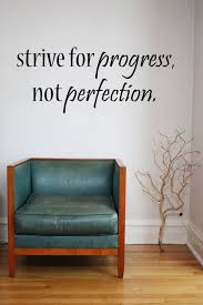 Strive For Progress Not Perfection Vinyl Wall Decal Sticker Etsy