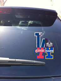 24 08 La Rams Dodgers Clippers Kings Lax4 Logo Car Window Vinyl Decal Devious Decals And Apparel
