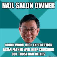 asian nail salon memes