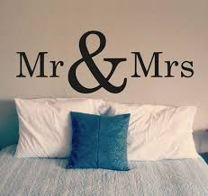 Bedroom Wall Decal Mr And Mrs Vinyl Art Sticker Wallpaper Removable Home Decor Interior Design Room Sign Decals Mural D305 Wall Stickers Aliexpress