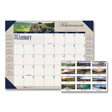 recycled motivational photographic monthly desk pad calendar by