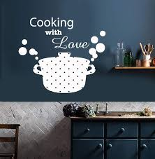 Vinyl Wall Decal Kitchen Decor Casserole Pan Food Cooking With Love St Wallstickers4you