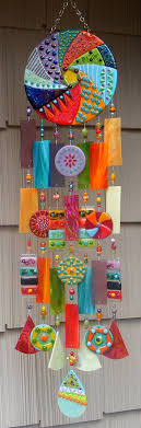 art fused stained glass wind chime