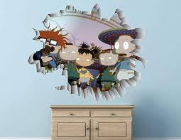 Amazon Com Rugrats Tommy Chuckie Lillian Wall Decal Sticker Kids Wall Decal Decor Art 3d Vinyl Wall Decal Ah188 Large Wide 40 X 36 Height Home Kitchen