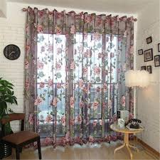 39x79 Inch Floral Sheer Window Curtain Voile Drape Curtains Panel Living Room Bedroom Kids Room Home Decor Walmart Com Walmart Com