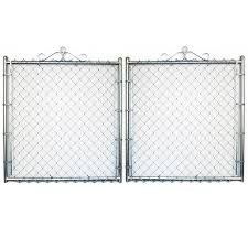 6 Ft H X 10 Ft W Vinyl Coated Steel Chain Link Fence Gate In The Chain Link Fence Gates Department At Lowes Com