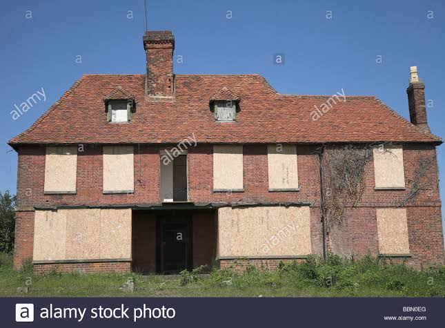 Image result for boarded up house""
